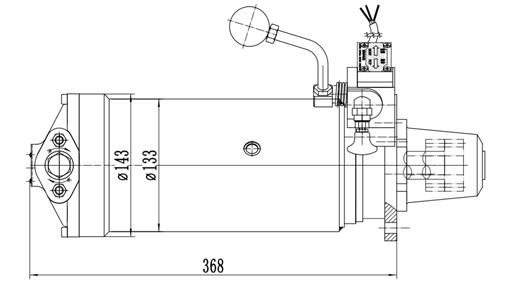 Size of Cqstart Spring Starter For 16-30L Diesel Engine